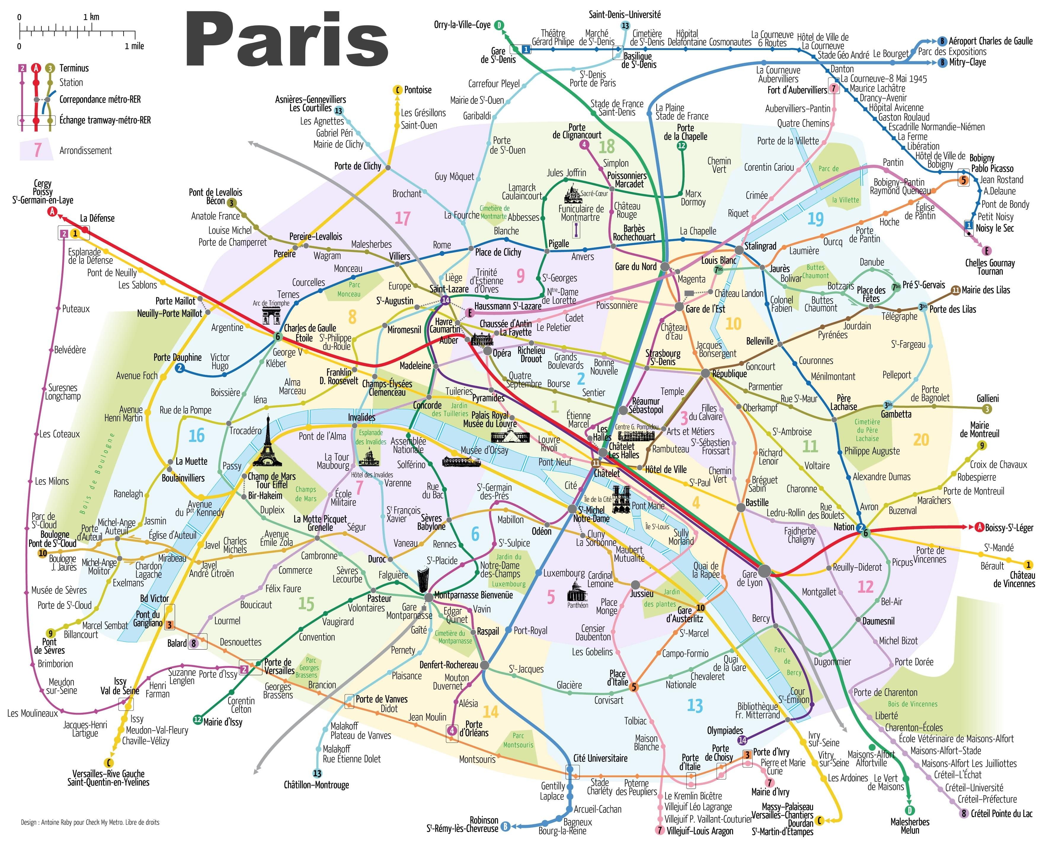 O Hartă De Paris Franta Harta De La Paris Arată Repere Ile De